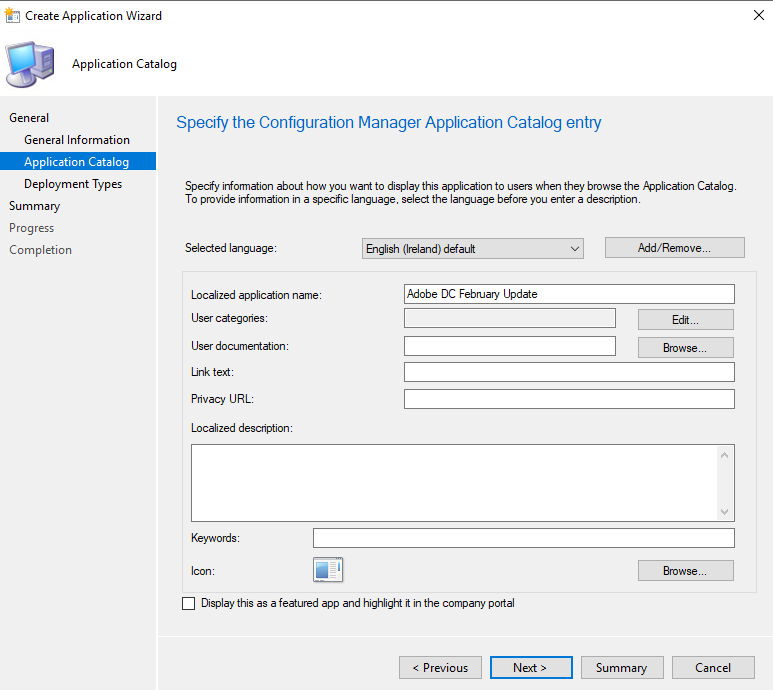 How to patch / update Adobe Reader DC with sccm