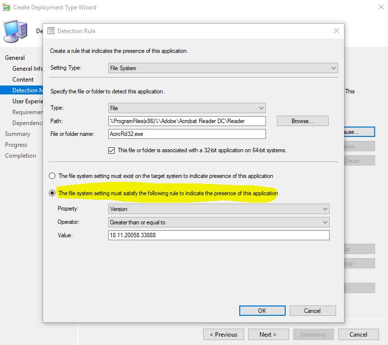 Install Adobe Reader DC with SCCM