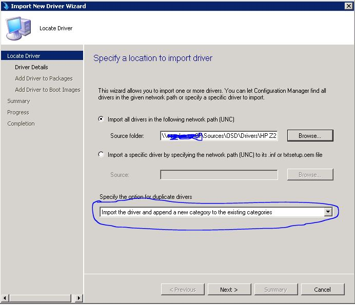 Create a driver package for OS deployment