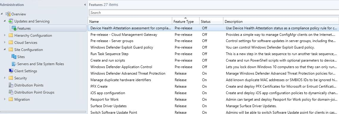 SCCM_Upgrade_1710_Install_Update_more_features