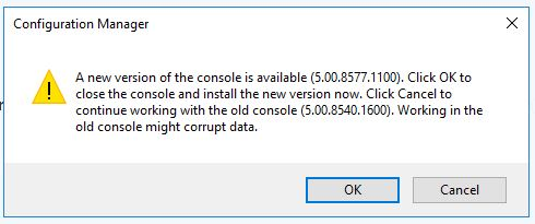SCCM_Upgrade_1710_Install_Update_Upgrade_Console
